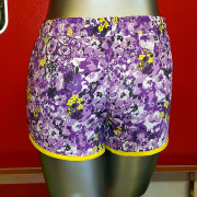 Warrior-Fitness-Body-Shorts-Purple-flowers-back-view