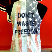Warrior-Fitness-Dont-Waste-Freedom-Womens-tank-top-back-view